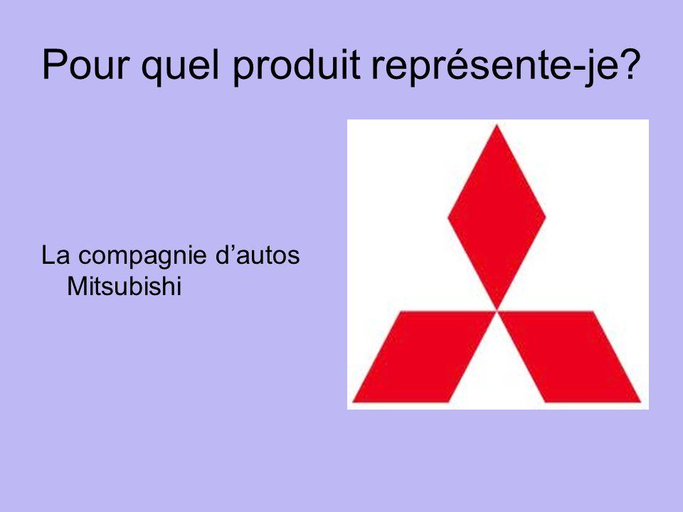Pour quel produit représente-je La compagnie dautos Mitsubishi