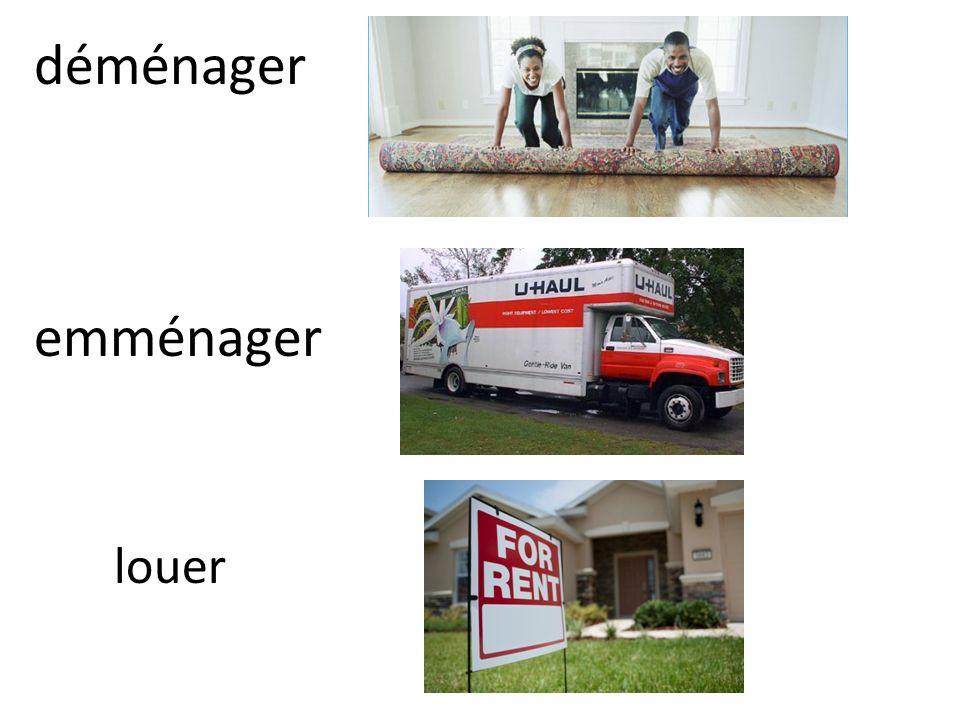 déménager emménager louer