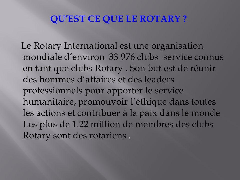 En 2002, la Fondation Rotary sest associée à 8 universités dans le monde pour créer les Centres Rotary pour les etudes internationales sur la paix et la résolution de conflits.
