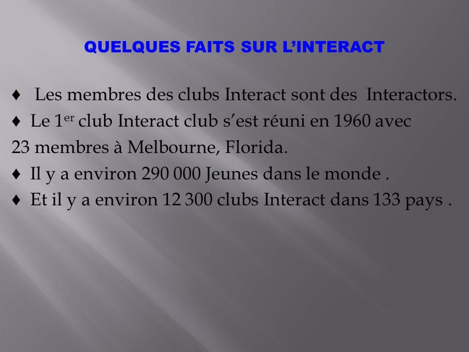 Les membres des clubs Interact sont des Interactors.
