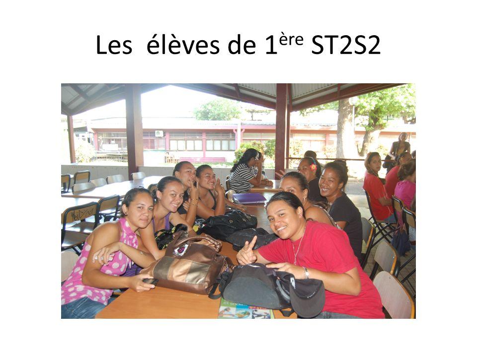 Les élèves de 1 ère ST2S2