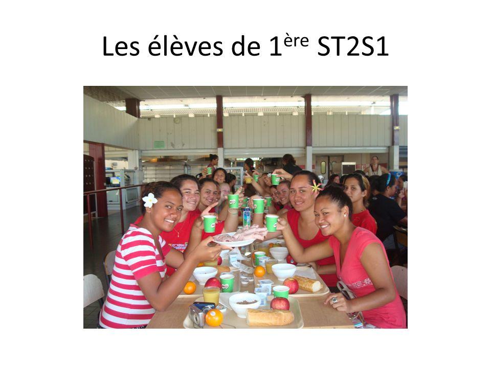 Les élèves de 1 ère ST2S1