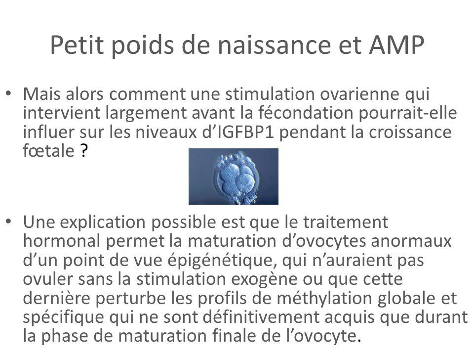 Petit poids de naissance et AMP Mais alors comment une stimulation ovarienne qui intervient largement avant la fécondation pourrait-elle influer sur l