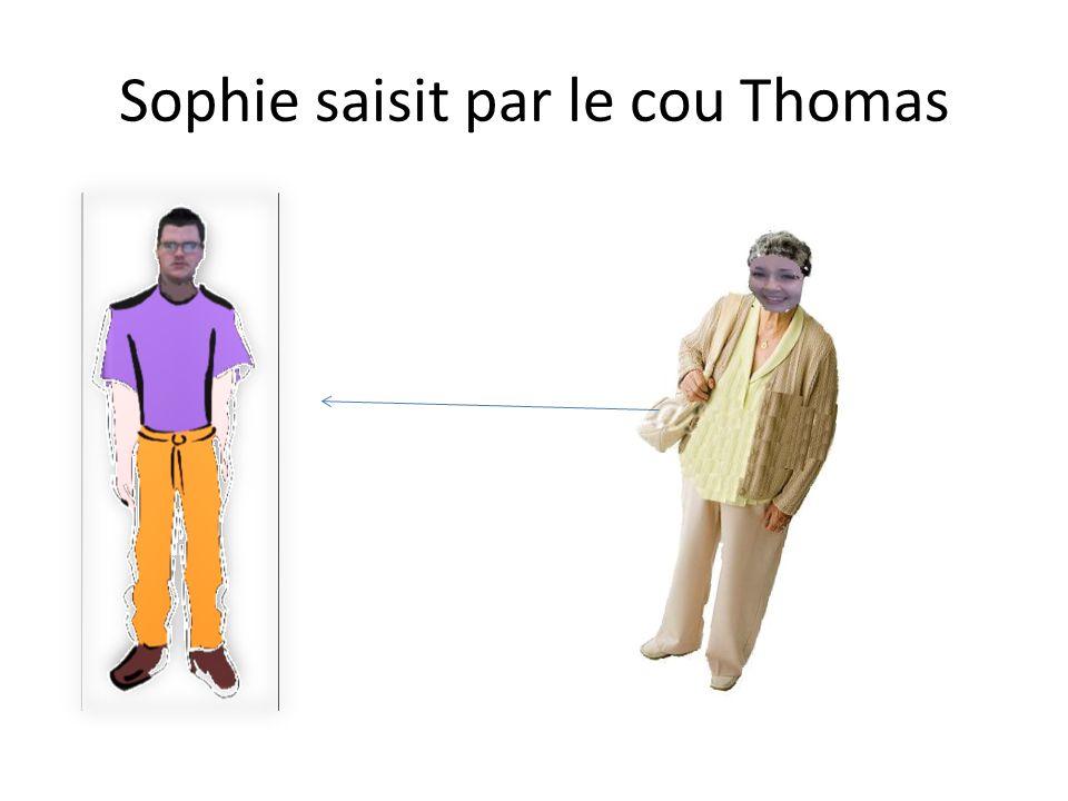 Thomas doit de faire leur épicerie de Sophie loin
