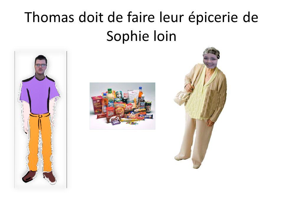 Thomas doit promener le chien de Sophie.