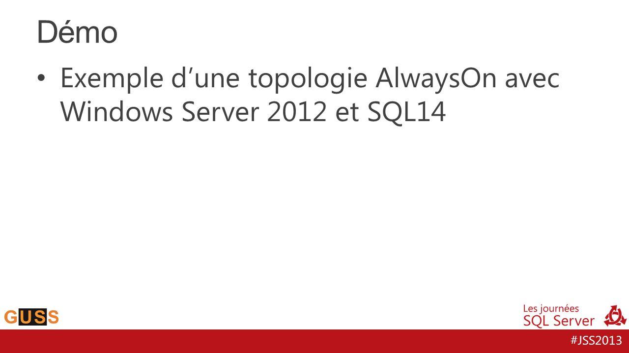 #JSS2013 Exemple dune topologie AlwaysOn avec Windows Server 2012 et SQL14 Démo