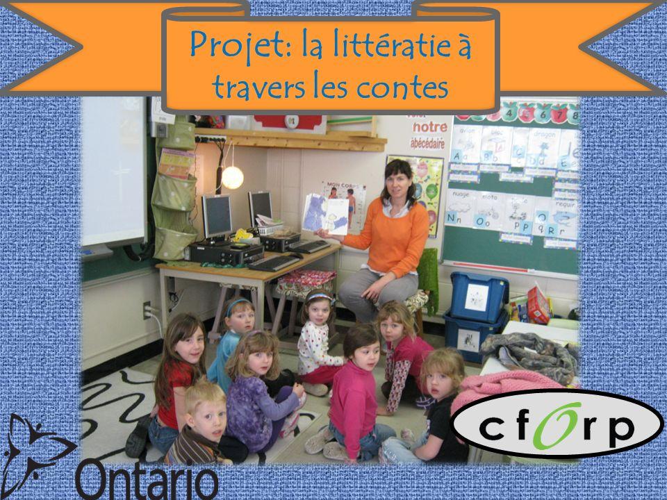 Projet: la littératie à travers les contes
