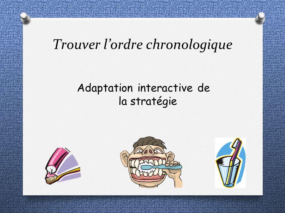 Trouver lordre chronologique Adaptation interactive de la stratégie