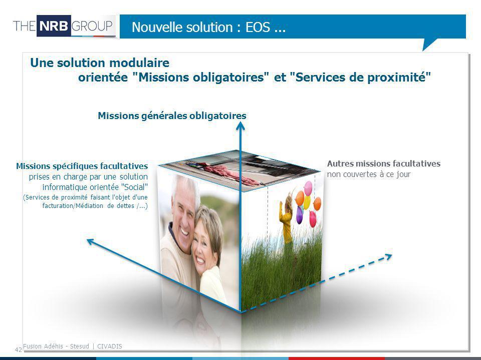 42 Nouvelle solution : EOS... Une solution modulaire orientée