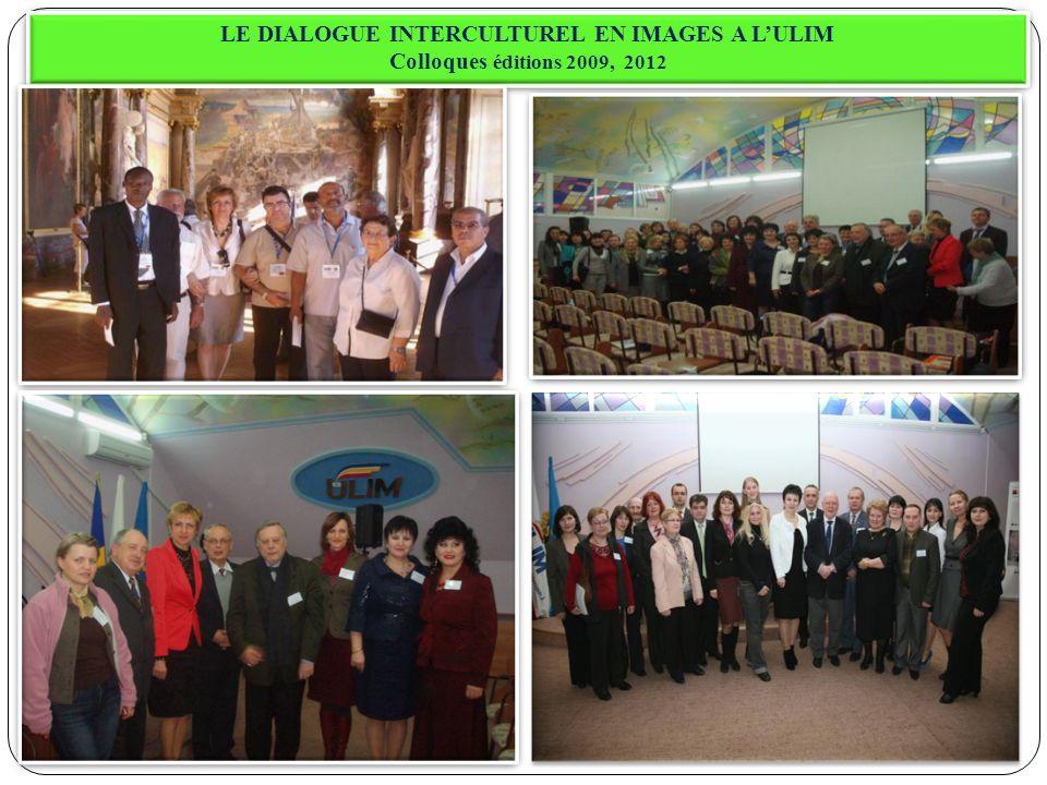 LE DIALOGUE INTERCULTUREL EN IMAGES A LULIM Colloques éditions 2009, 2012