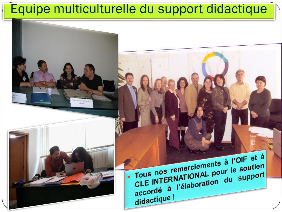 Equipe multiculturelle du support didactique