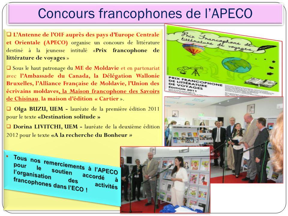 Concours francophones de lAPECO