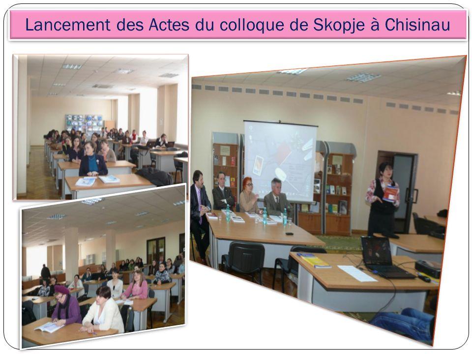 Lancement des Actes du colloque de Skopje à Chisinau