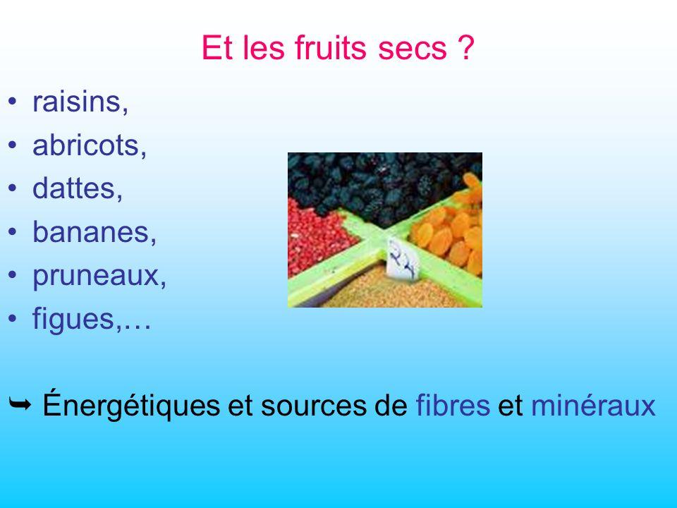 Et les fruits secs .