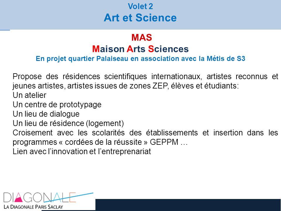 RENDEZ-VOUS ANNUEL JOURNÉES ARTS-SCIENCES 2012 MAS Maison Arts Sciences En projet quartier Palaiseau en association avec la Métis de S3 Propose des ré