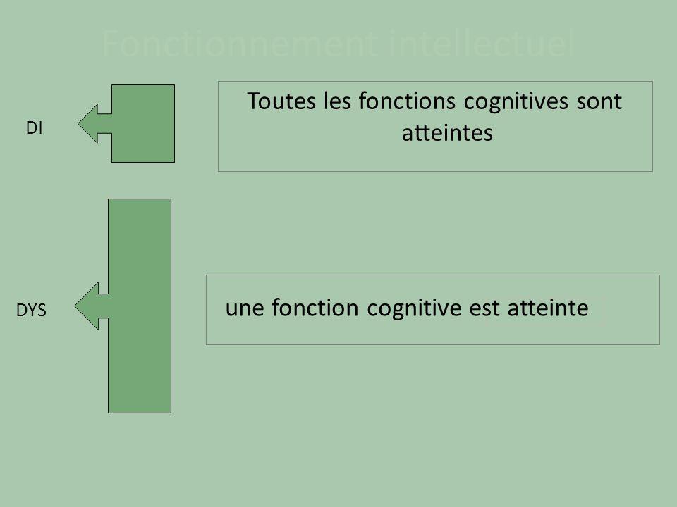 Trouble spécifique cognitif = trouble « DYS » DYS = Difficultés d acquisition d une fonction Pathologie d un cerveau en croissance Trouble développemental.