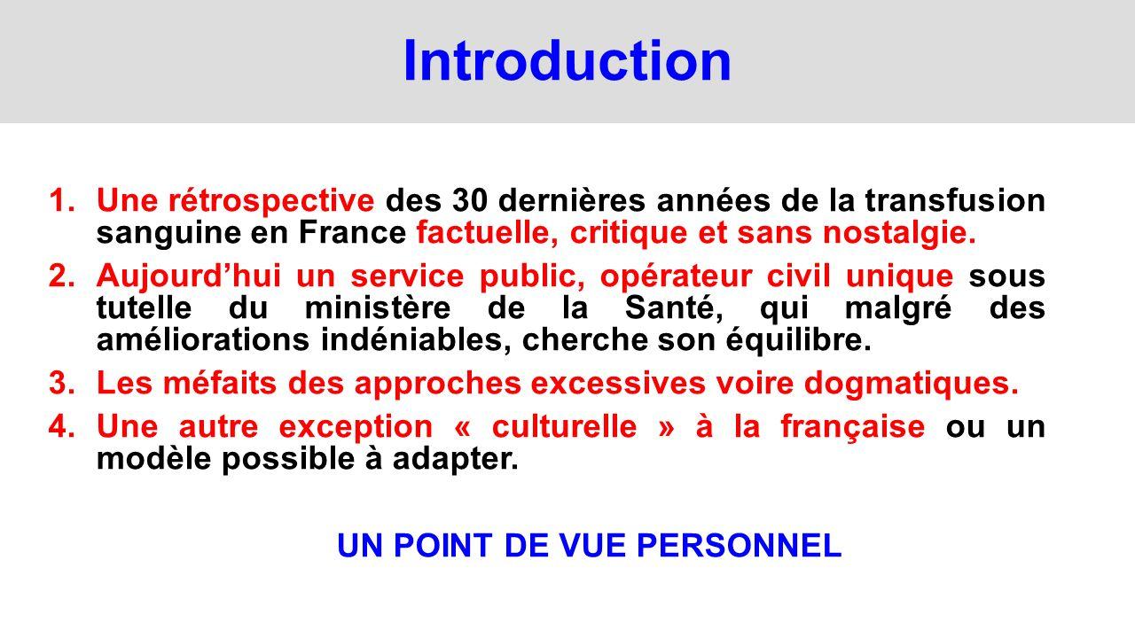 Etablissement Français du Sang 2000-2013 (Objectifs) 1.LEFS est créée le 1er janvier 2000 - Opérateur civil unique de la transfusion en France.