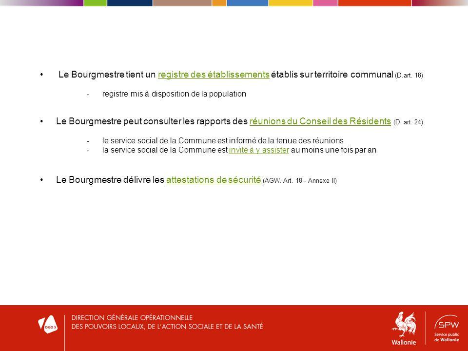 Le Bourgmestre peut consulter les rapports des réunions du Conseil des Résidents (D.