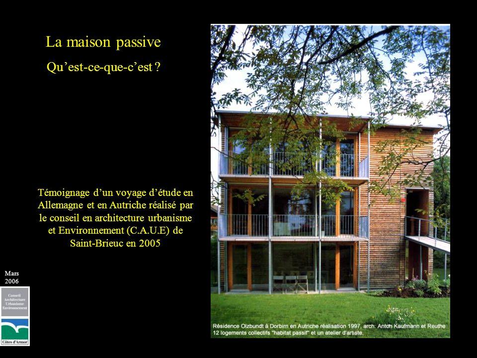 Lexposition plein Sud permet de faire pénétrer les rayons du soleil, plus bas en hiver, jusquau cœur du bâtiment afin de le réchauffer et de léclairer tandis quen été le soleil au zénith est arrêté par les arbres et le toit Principe de lutilisation passive du soleil