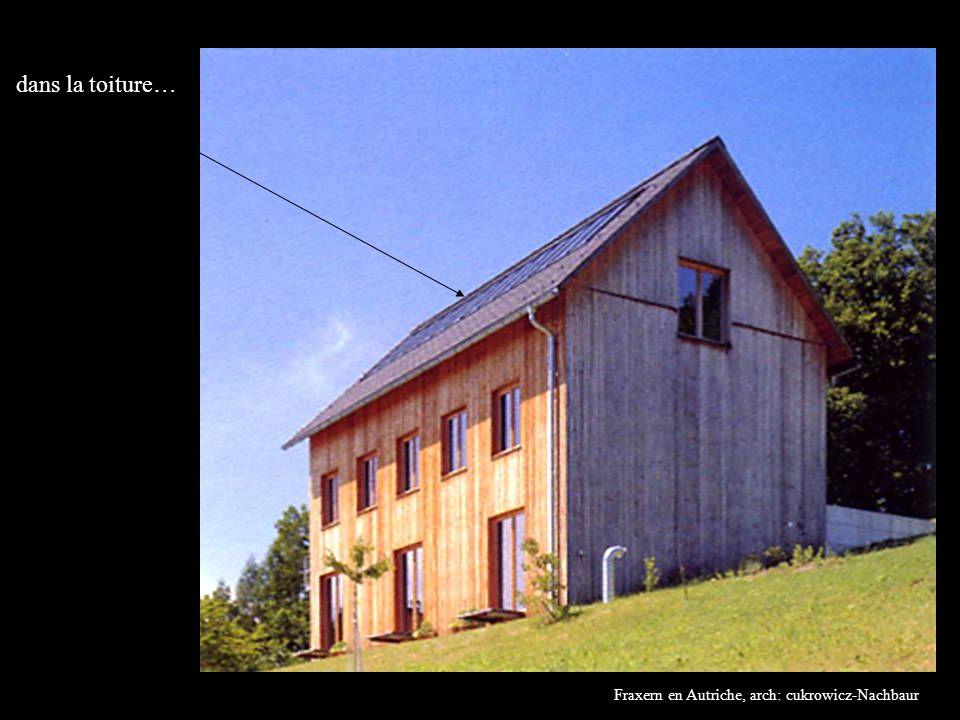 Fraxern en Autriche, arch: cukrowicz-Nachbaur dans la toiture…
