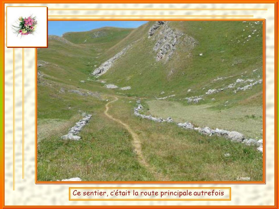 Ancienne voie de circulation des gens et du bétail dans le village.