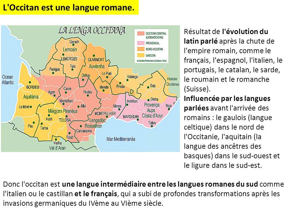 Résultat de l'évolution du latin parlé après la chute de l'empire romain, comme le français, l'espagnol, l'italien, le portugais, le catalan, le sarde
