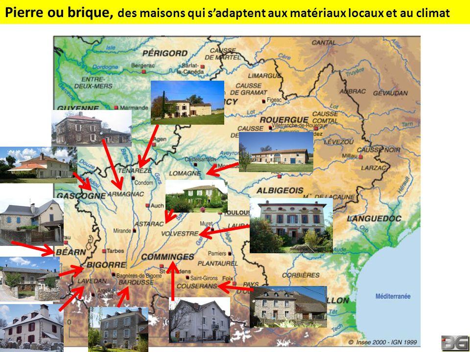 Pierre ou brique, des maisons qui sadaptent aux matériaux locaux et au climat