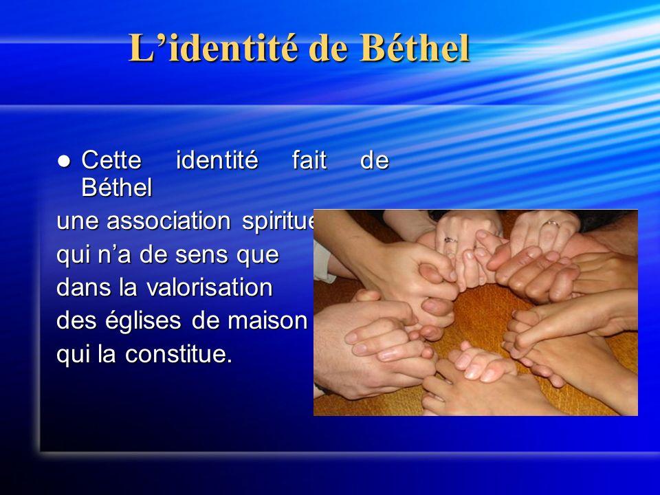 Le réseau déglises de maison Béthel œuvre dans lunité du corps de Christ et prend une part active dans toute action qui favorise le rassemblement des Chrétiens pour la seule gloire de Dieu.