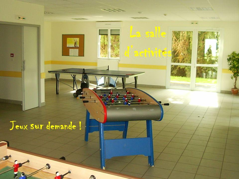 La salle dactivités Jeux sur demande !