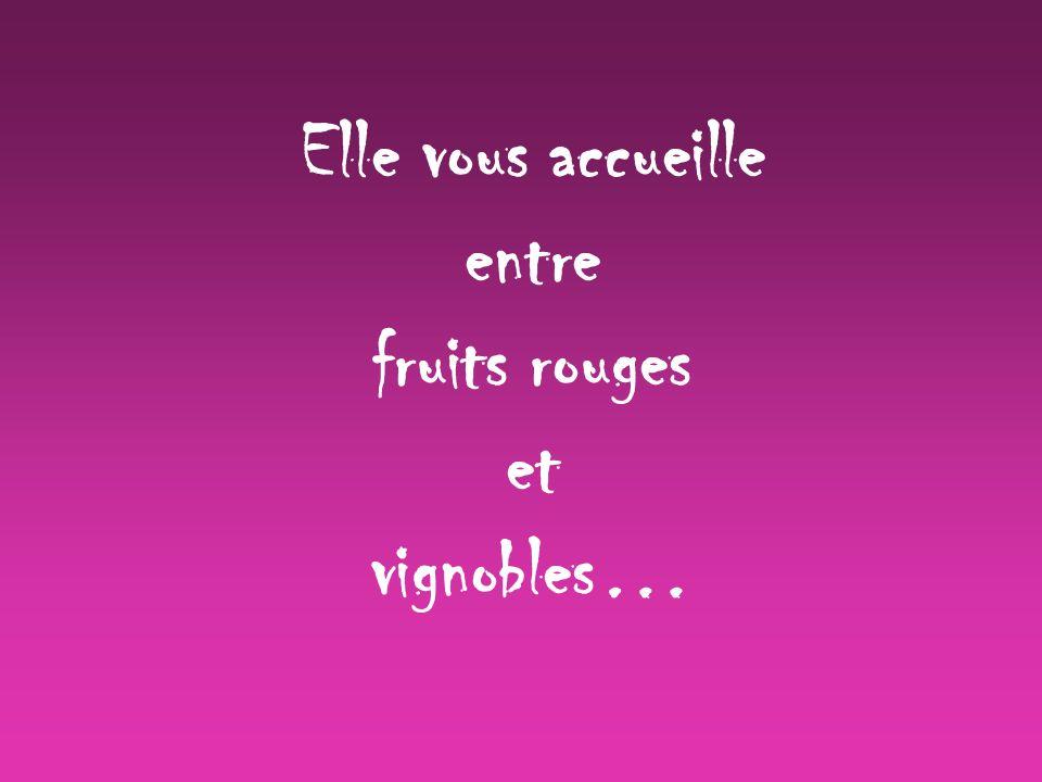 Elle vous accueille entre fruits rouges et vignobles…