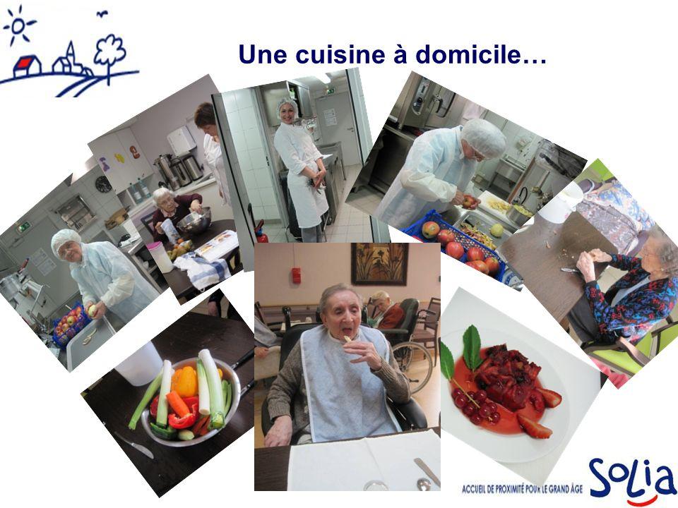 Une cuisine à domicile…