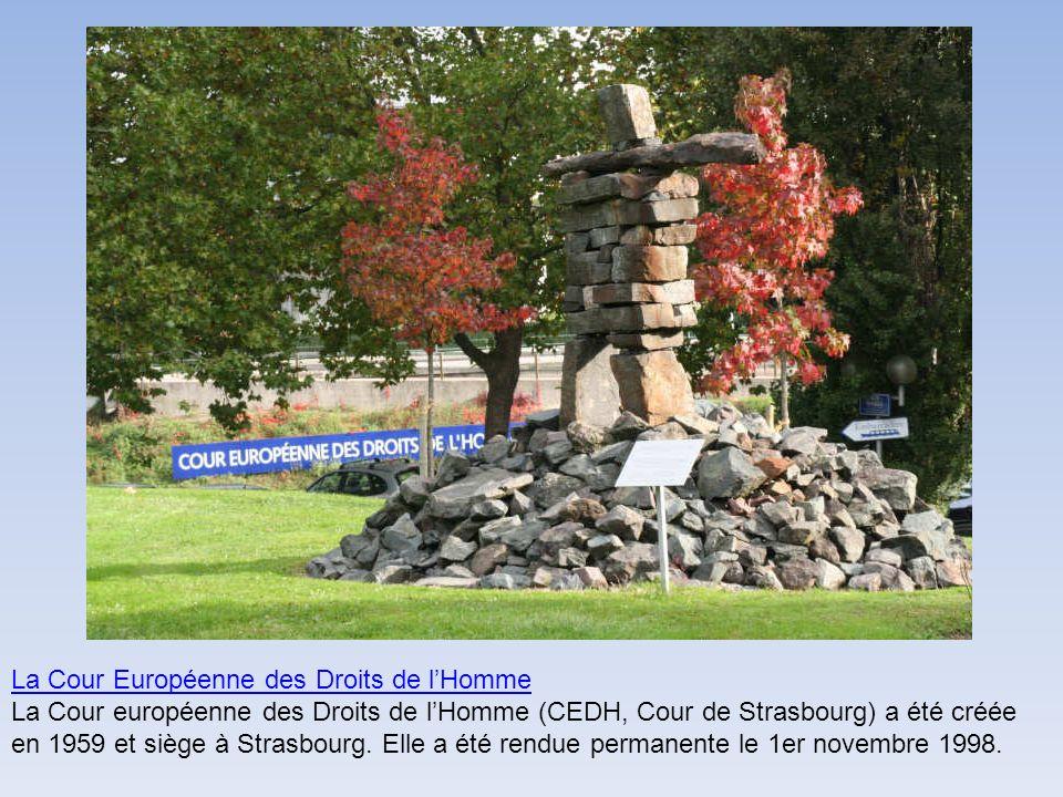 La Cour Européenne des Droits de lHomme La Cour européenne des Droits de lHomme (CEDH, Cour de Strasbourg) a été créée en 1959 et siège à Strasbourg.