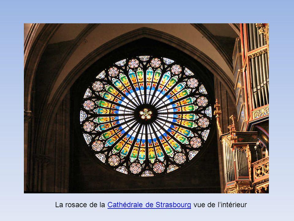 La rosace de la Cathédrale de Strasbourg vue de lintérieurCathédrale de Strasbourg