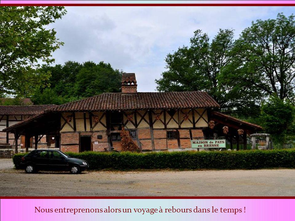 En traversant la Bresse nous admirons ça et là, les belles fermes dautrefois, souvent restaurées avec amour. Voilà que, en arrivant à Saint Etienne de
