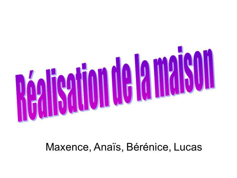 Maxence, Anaïs, Bérénice, Lucas