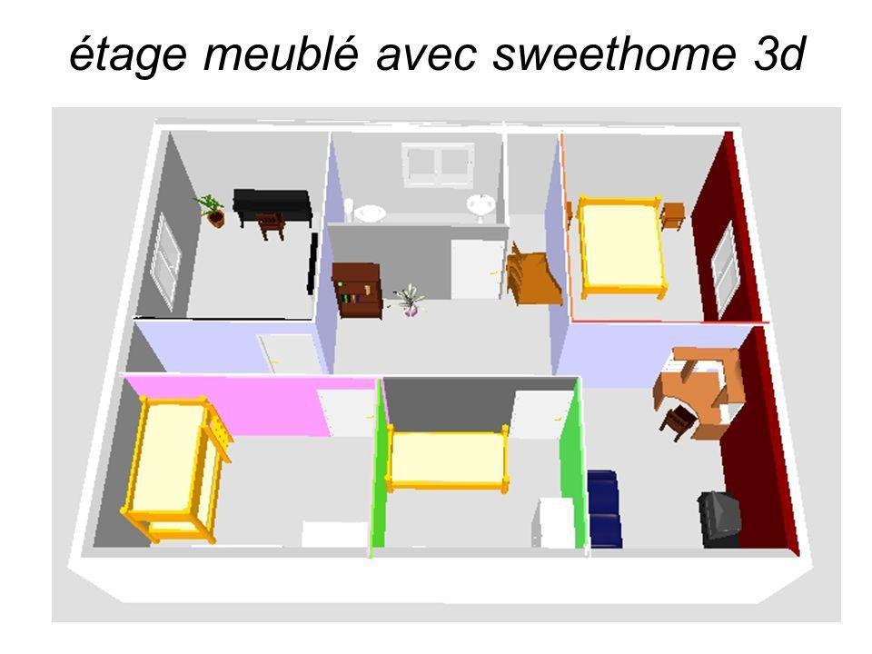 étage meublé avec sweethome 3d