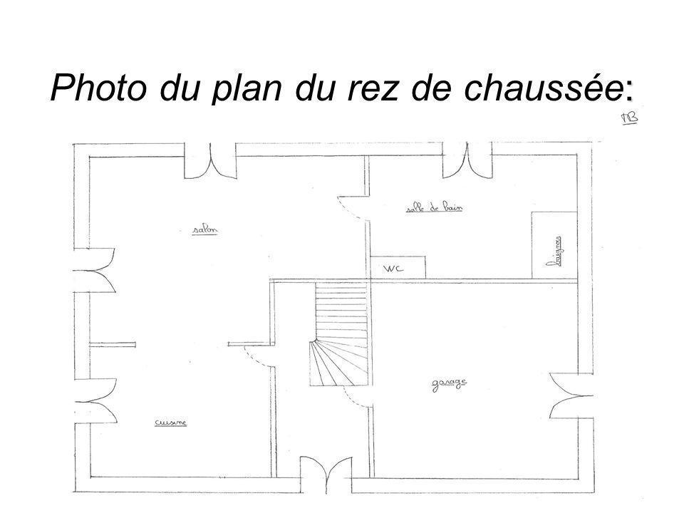 : Photo du plan du rez de chaussée: