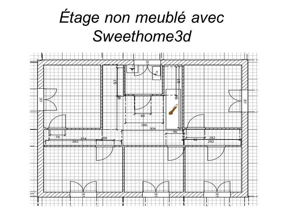 Étage non meublé avec Sweethome3d