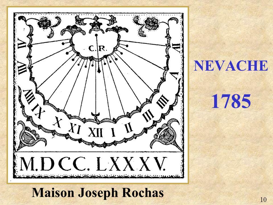 Maison Joseph Rochas NEVACHE 1785 10