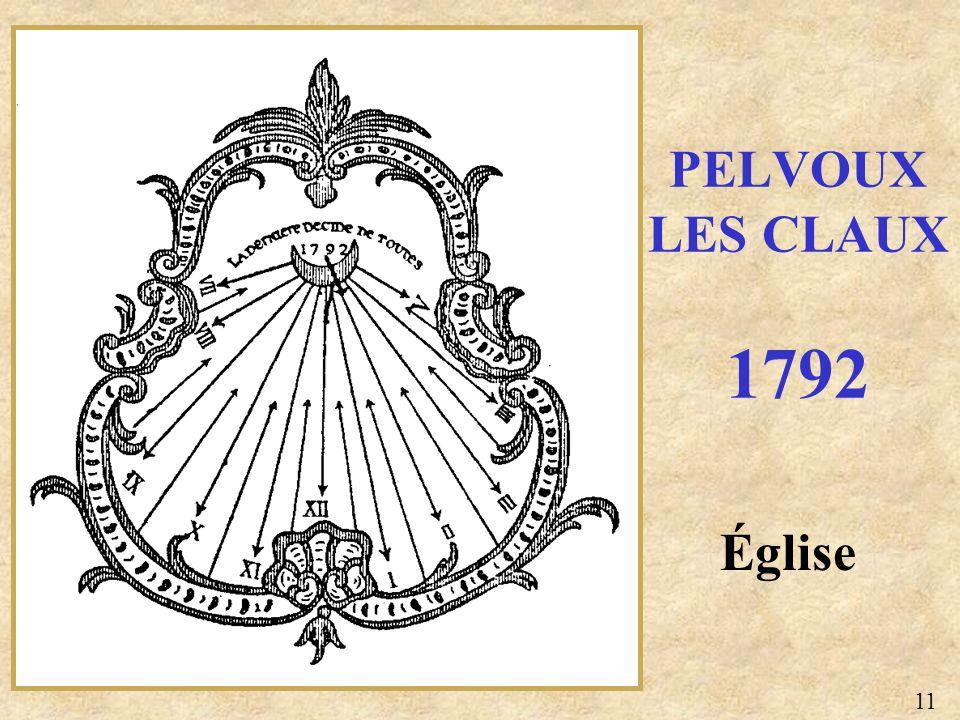 Église PELVOUX LES CLAUX 1792 11