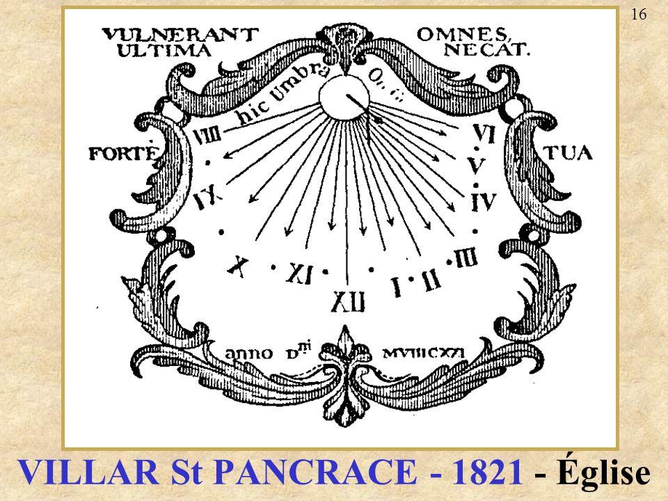 VILLAR St PANCRACE - 1821 - Église 16