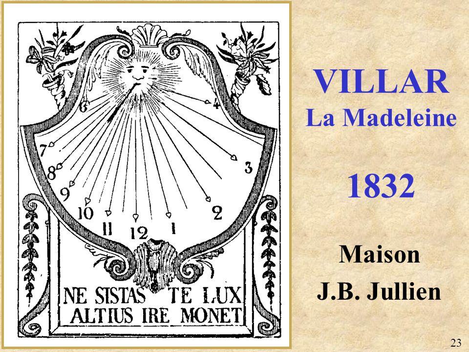 Maison J.B. Jullien VILLAR La Madeleine 1832 23