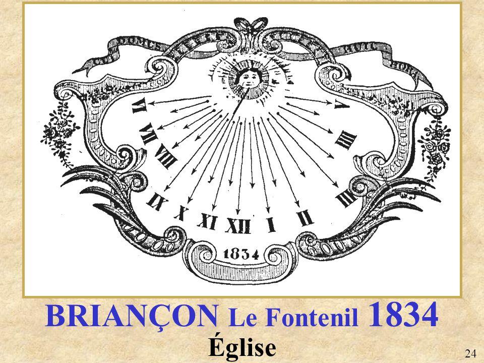 Église BRIANÇON Le Fontenil 1834 24