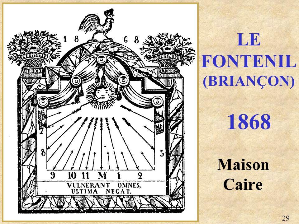Maison Caire LE FONTENIL (BRIANÇON) 1868 29