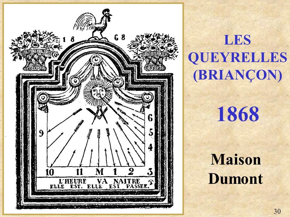 Maison Dumont LES QUEYRELLES (BRIANÇON) 1868 30