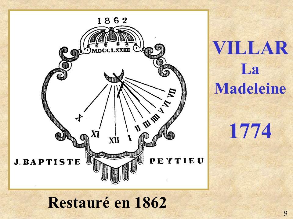 Restauré en 1862 VILLAR La Madeleine 1774 9