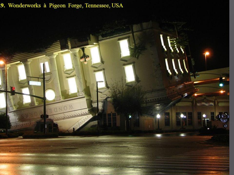 29. Wonderworks à Pigeon Forge, Tennessee, USA