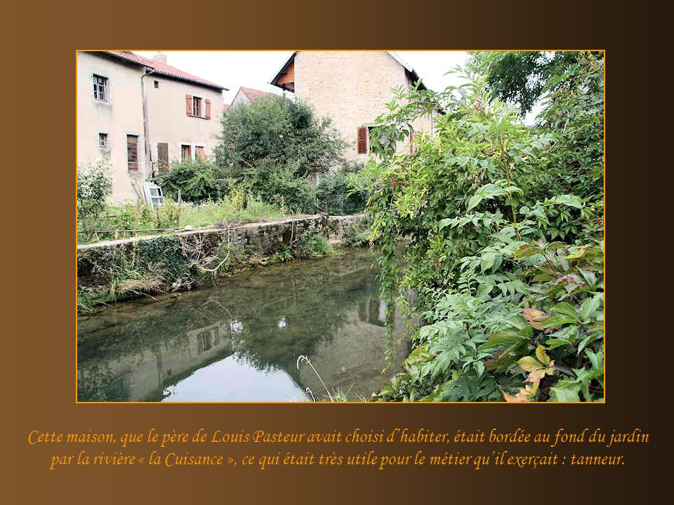 Larrière de la maison de Pasteur et le jardin.