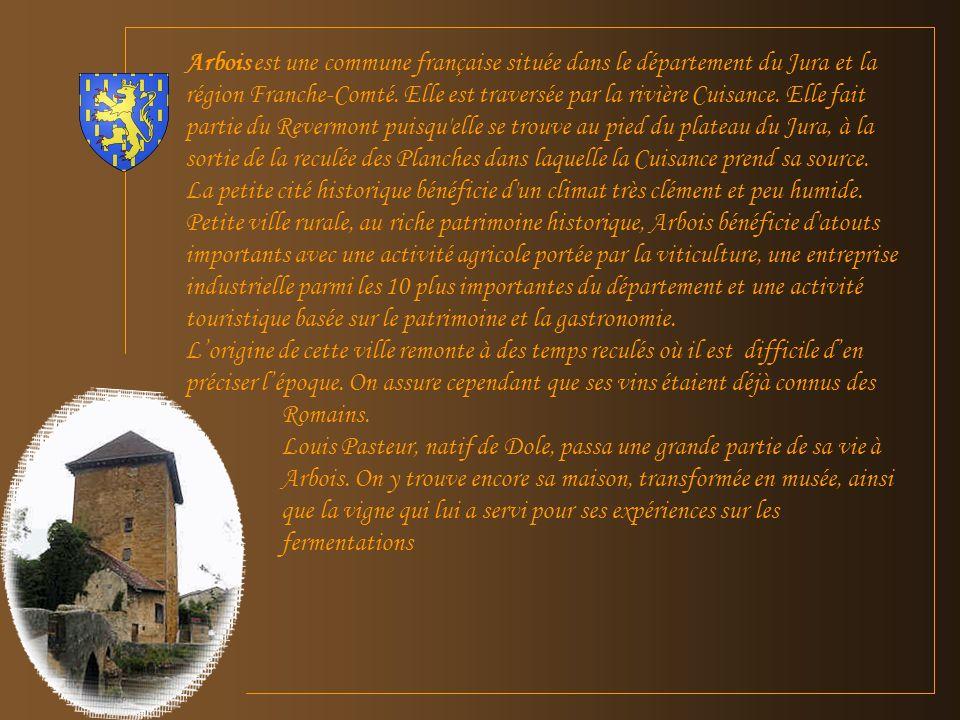 Arbois est une commune française située dans le département du Jura et la région Franche-Comté.