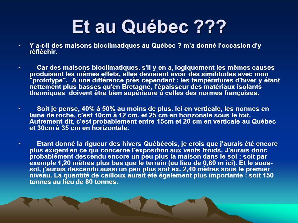 Et au Québec ??? Y a-t-il des maisons bioclimatiques au Québec ? m'a donné l'occasion d'y réfléchir. Car des maisons bioclimatiques, s'il y en a, logi